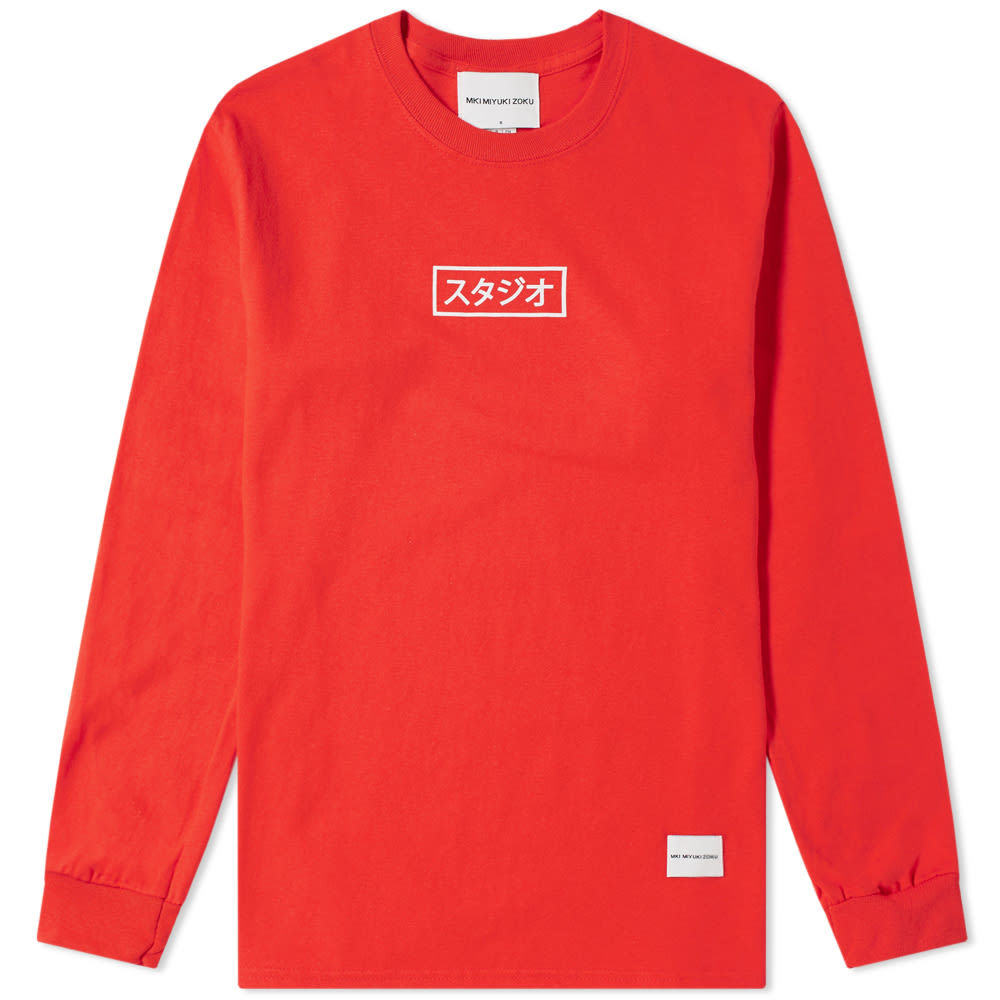 Photo: MKI Long Sleeve Studio Box Tee Red & White