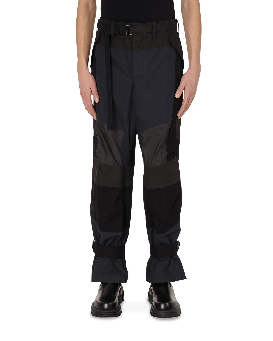 Photo: Sacai Fabric Combo Pants Black