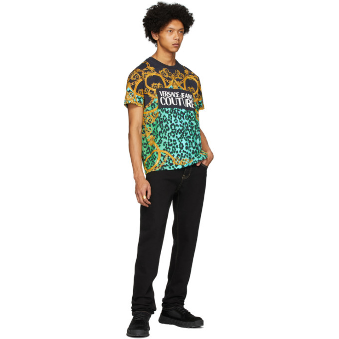Versace Jeans Couture Green Leo Chain T-Shirt
