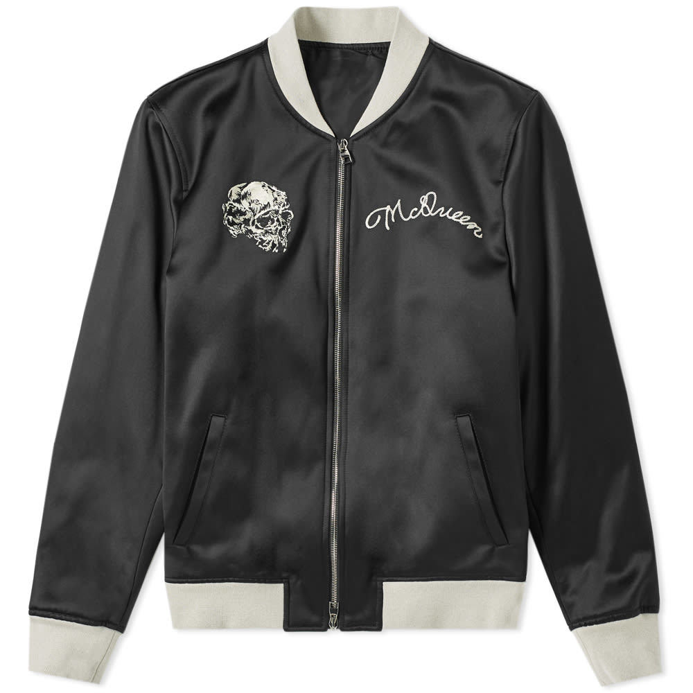 Photo: Alexander McQueen Skull Silk Blouson Jacket