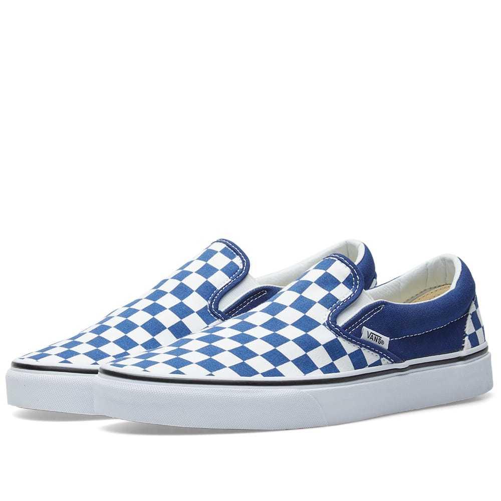 Photo: Vans Classic Slip On Checkerboard Blue