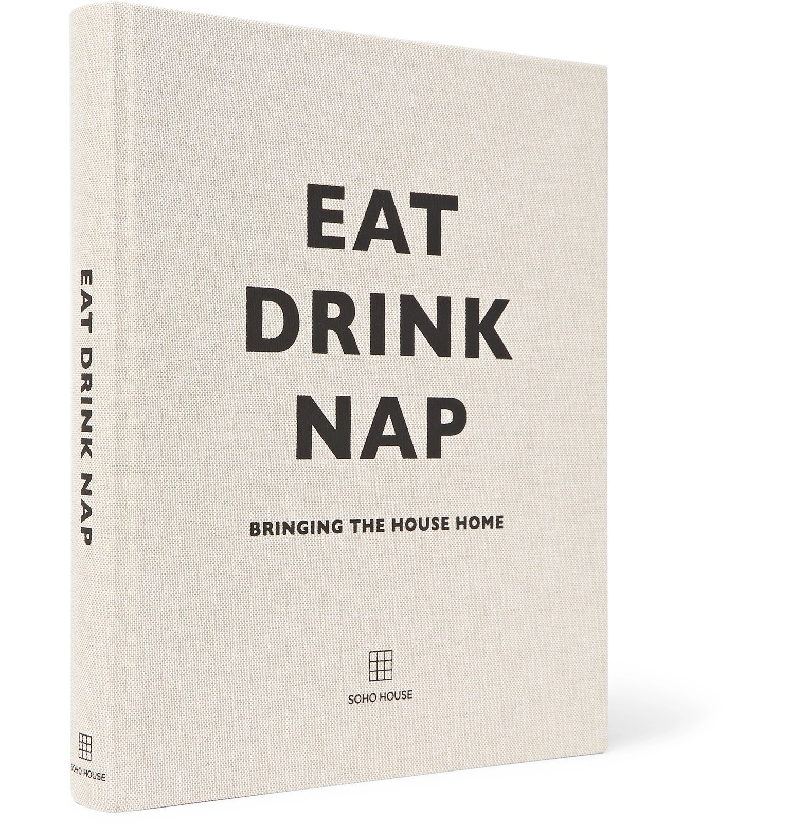 Photo: Soho Home - Eat Drink Nap Hardcover Book - White