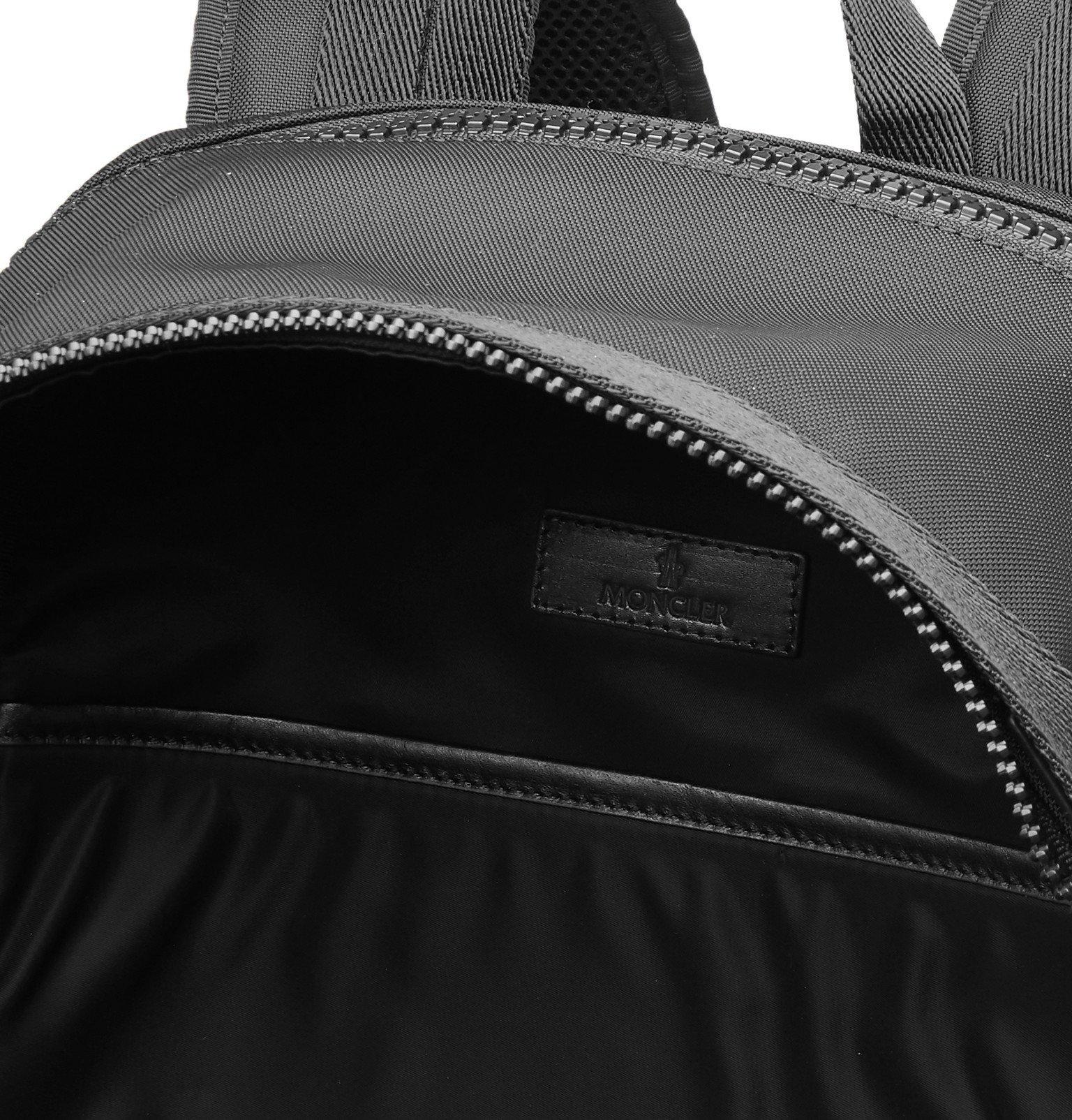 Moncler - Gimont Logo-Print Grosgrain-Trimmed Canvas Backpack - Black