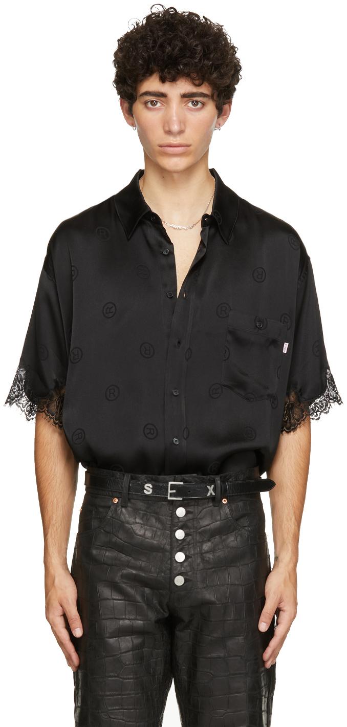 Photo: Martine Rose Black Silk Klene Short Sleeve Shirt