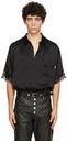 Martine Rose Black Silk Klene Short Sleeve Shirt