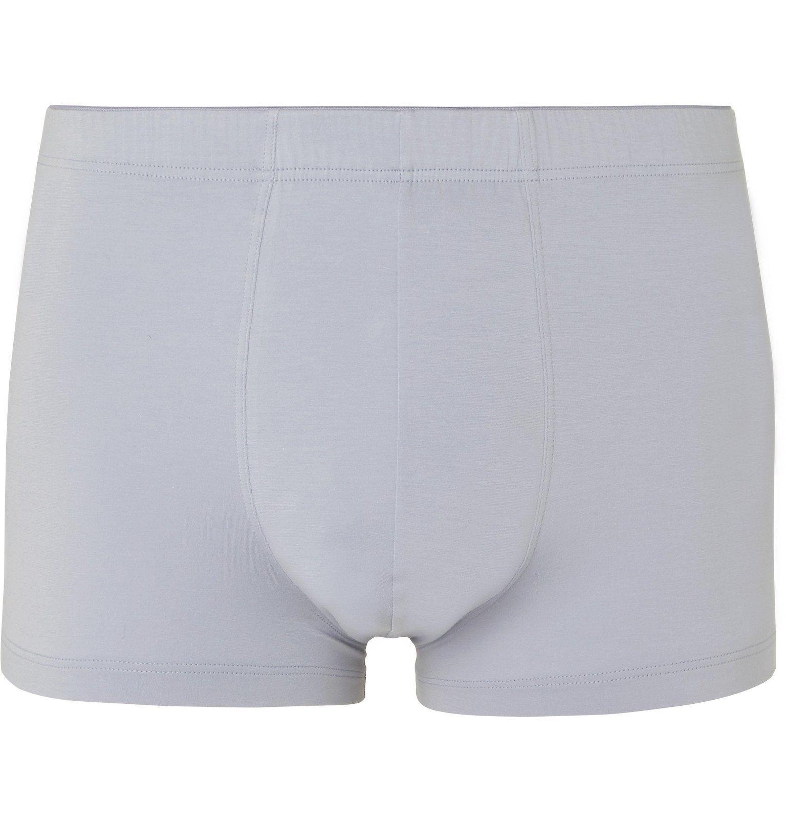 Hanro - Stretch-Cotton Boxer Briefs - Blue