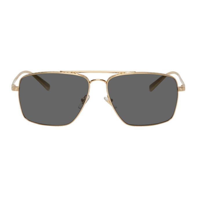 Versace Gold Deep Greca Sunglasses