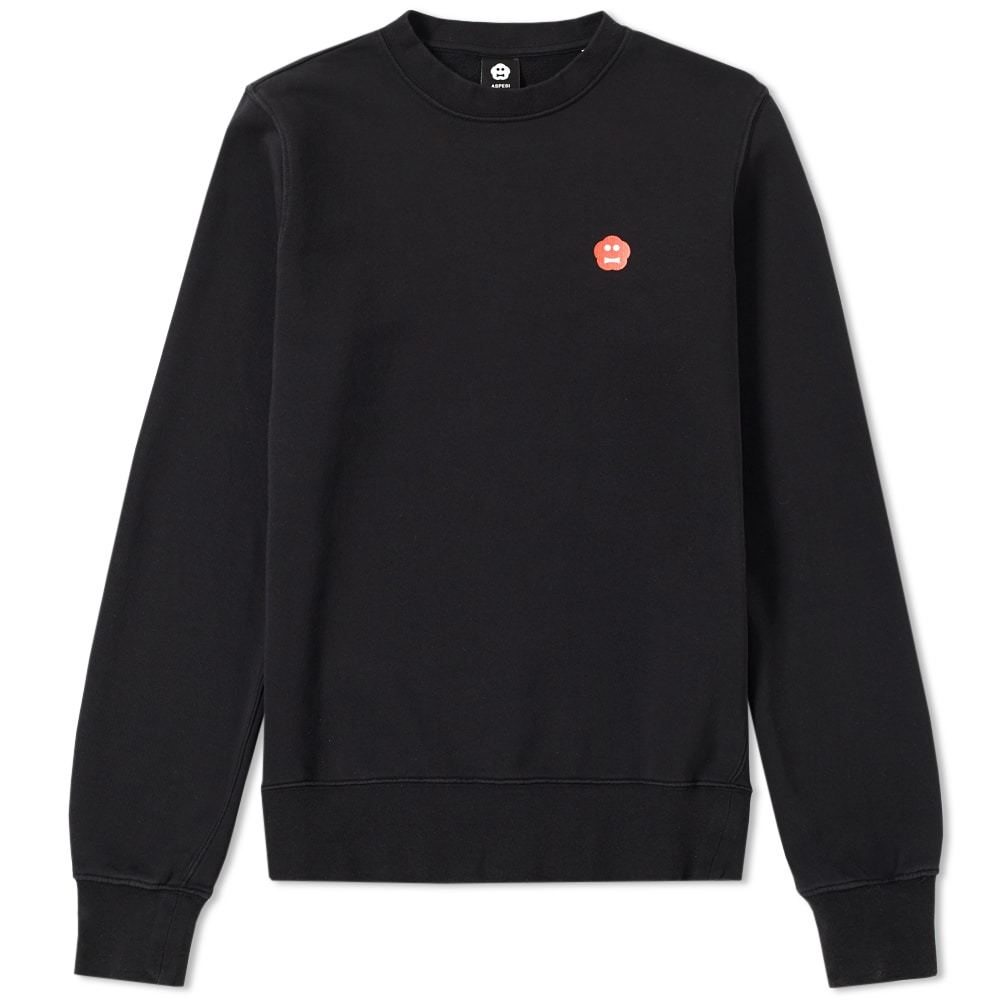 Photo: Aspesi Face Icon Crew Sweat Black