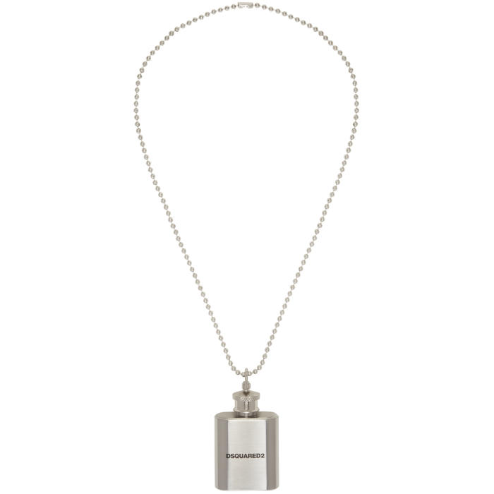 Photo: Dsquared2 Silver Flask Ball Chain Necklace