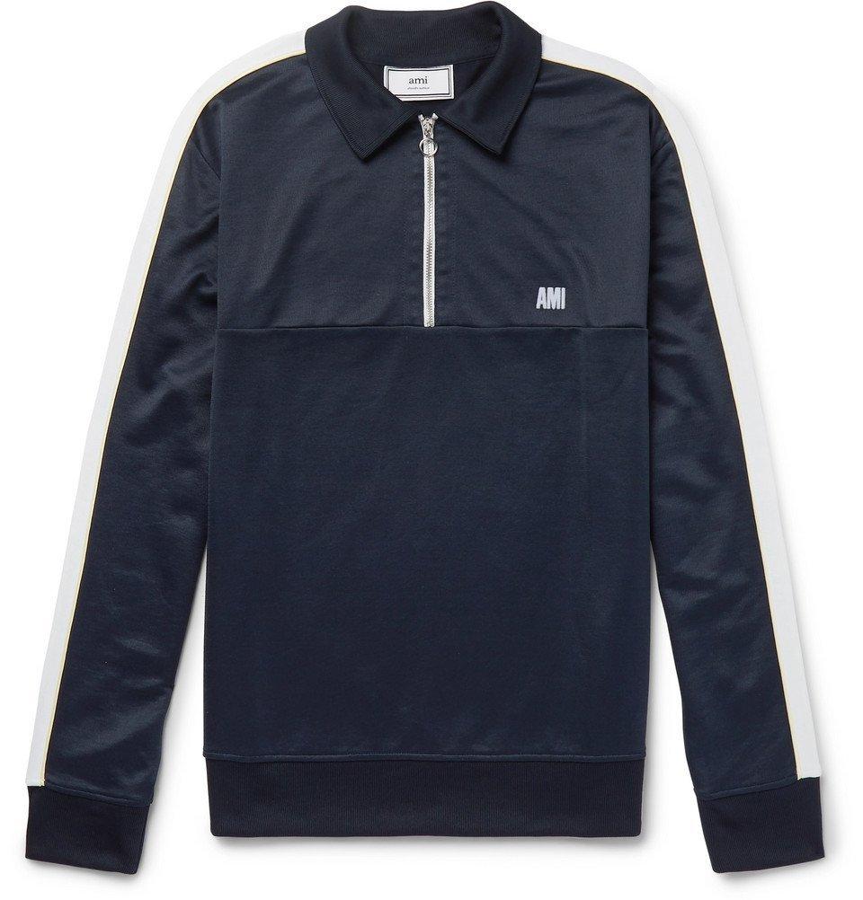 Photo: AMI - Jersey Half-Zip Sweater - Men - Navy