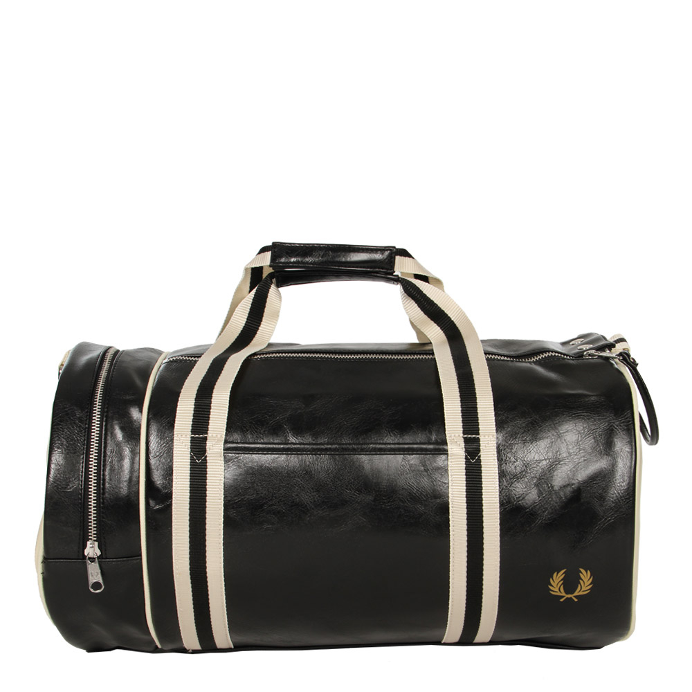 Photo: Classic Barrel Bag - Black/Ecru