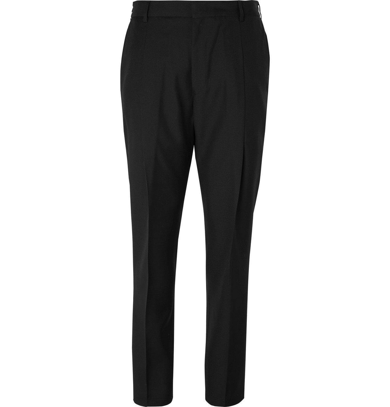 Photo: Givenchy - Tapered Wool-Twill Trousers - Black