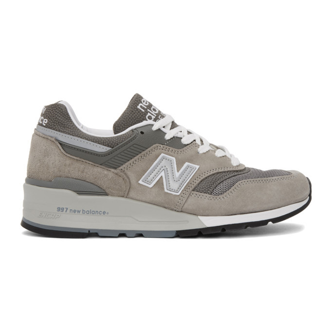 Photo: New Balance Grey Made In US 997 Sneakers