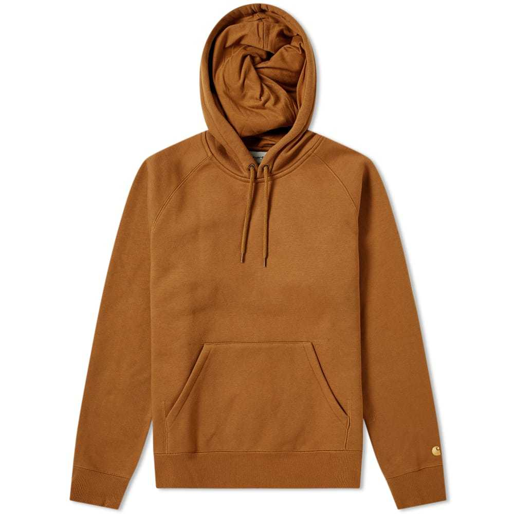 Photo: Carhartt Hooded Chase Sweat Hamilton Brown & Gold
