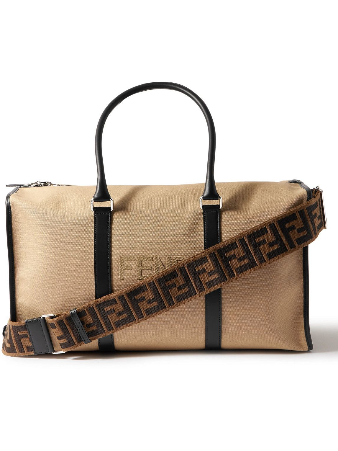 Photo: Fendi - Leather-Trimmed Logo-Appliquéd Canvas Holdall