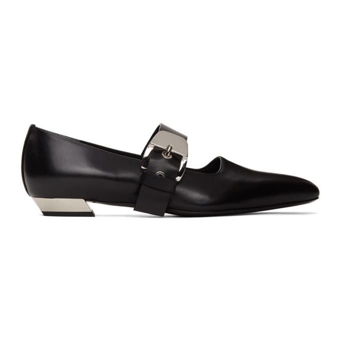 Photo: Proenza Schouler Black Mary Jane Slip-On Loafers