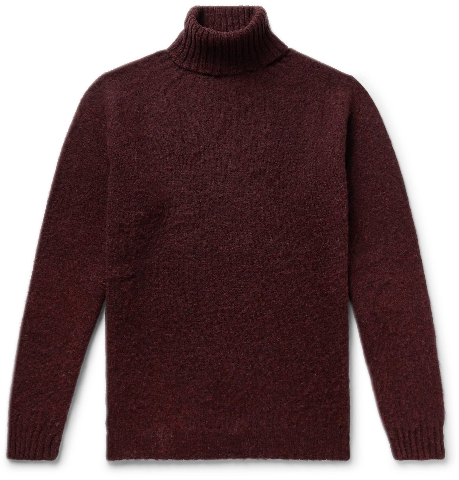 Photo: Howlin' - Sylvester Slim-Fit Wool Rollneck Sweater - Burgundy