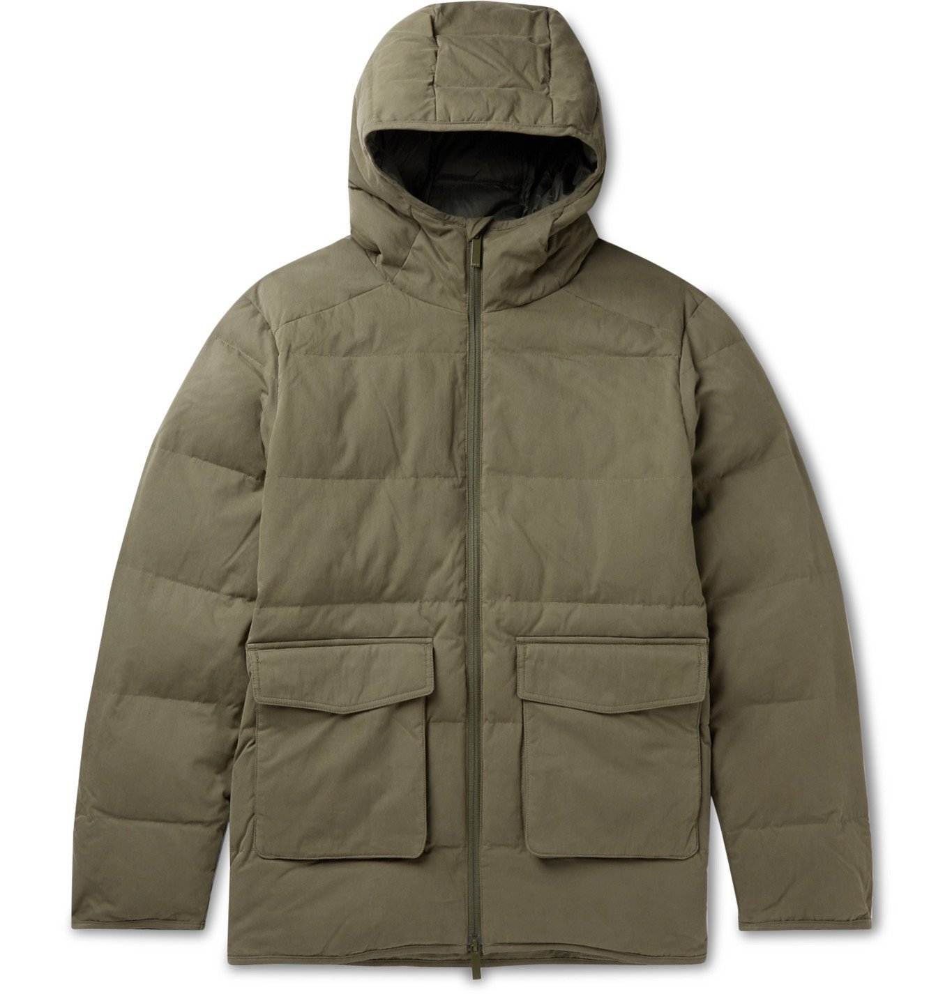 Photo: NN07 - Mason 8259 Quilted Cotton-Blend PrimaLoft Hooded Jacket - Green
