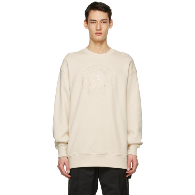 Photo: Acne Studios Off-White Oversized Embroidered Sweatshirt