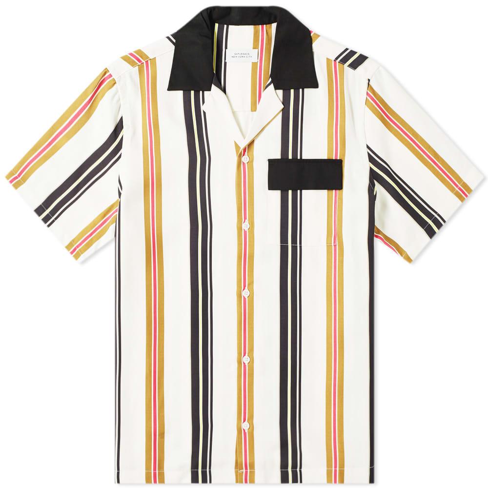 Photo: Saturdays NYC Short Sleeve Xavier Multi Stripe Shirt