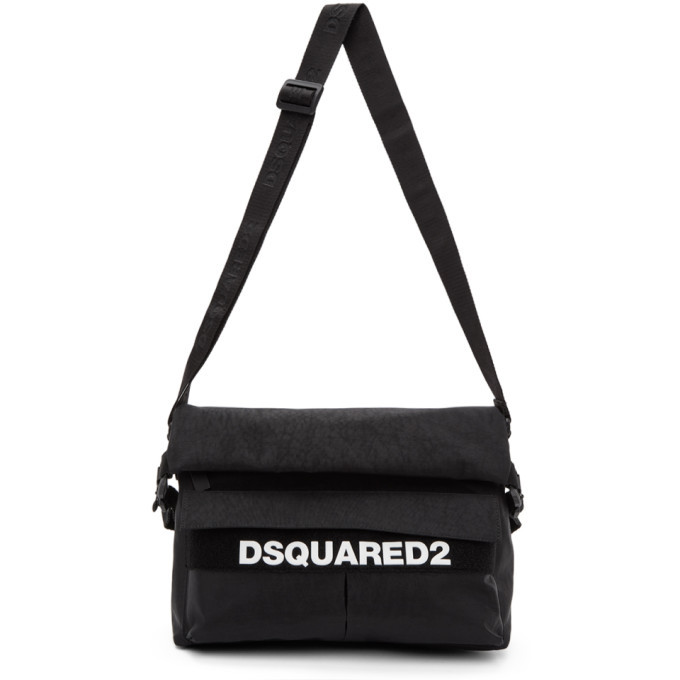 Photo: Dsquared2 Black Military Messenger Bag