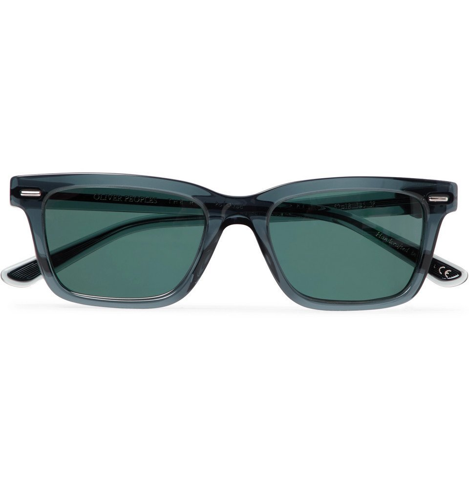 Photo: The Row - Oliver Peoples BA CC Square-Frame Acetate Polarised Sunglasses - Navy