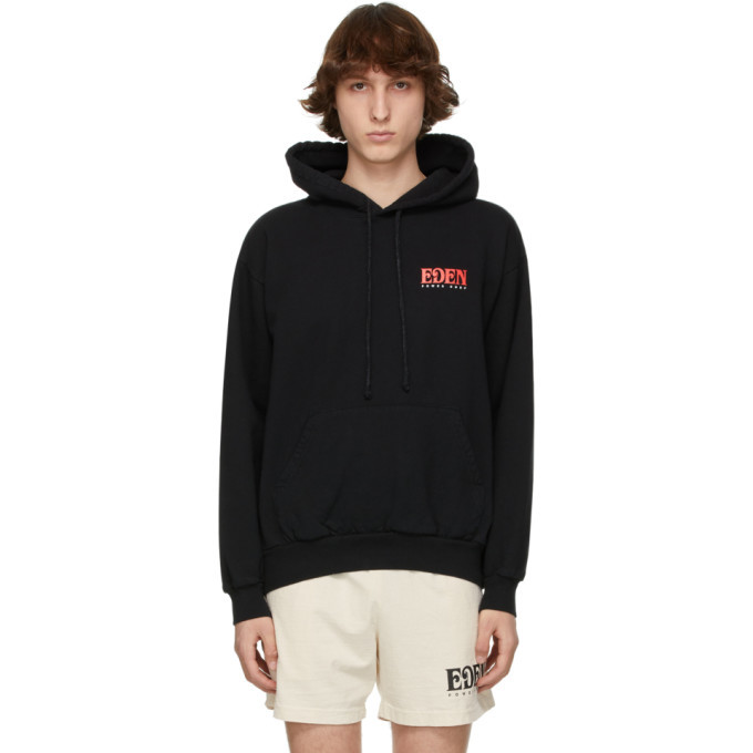 Photo: EDEN power corp Black and Red Recycled Cotton Logo Hoodie