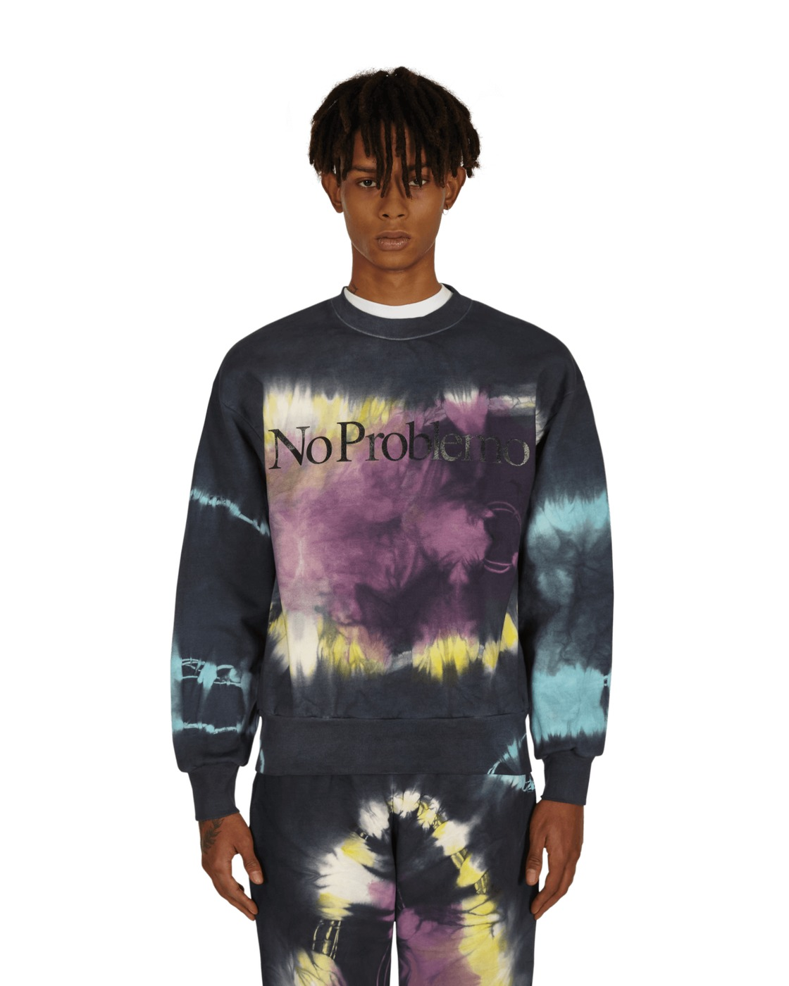 Aries No Problemo Headlights Crewneck Sweatshirt Multi