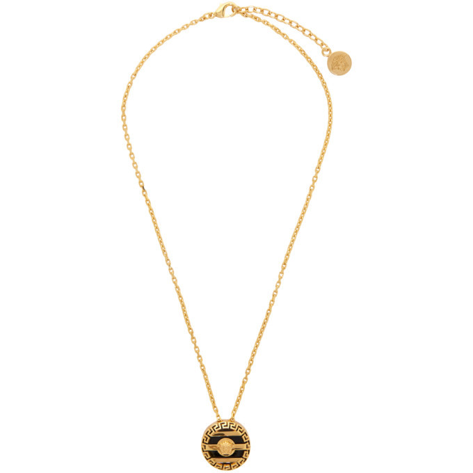Photo: Versace Gold Round Cage Medusa Necklace
