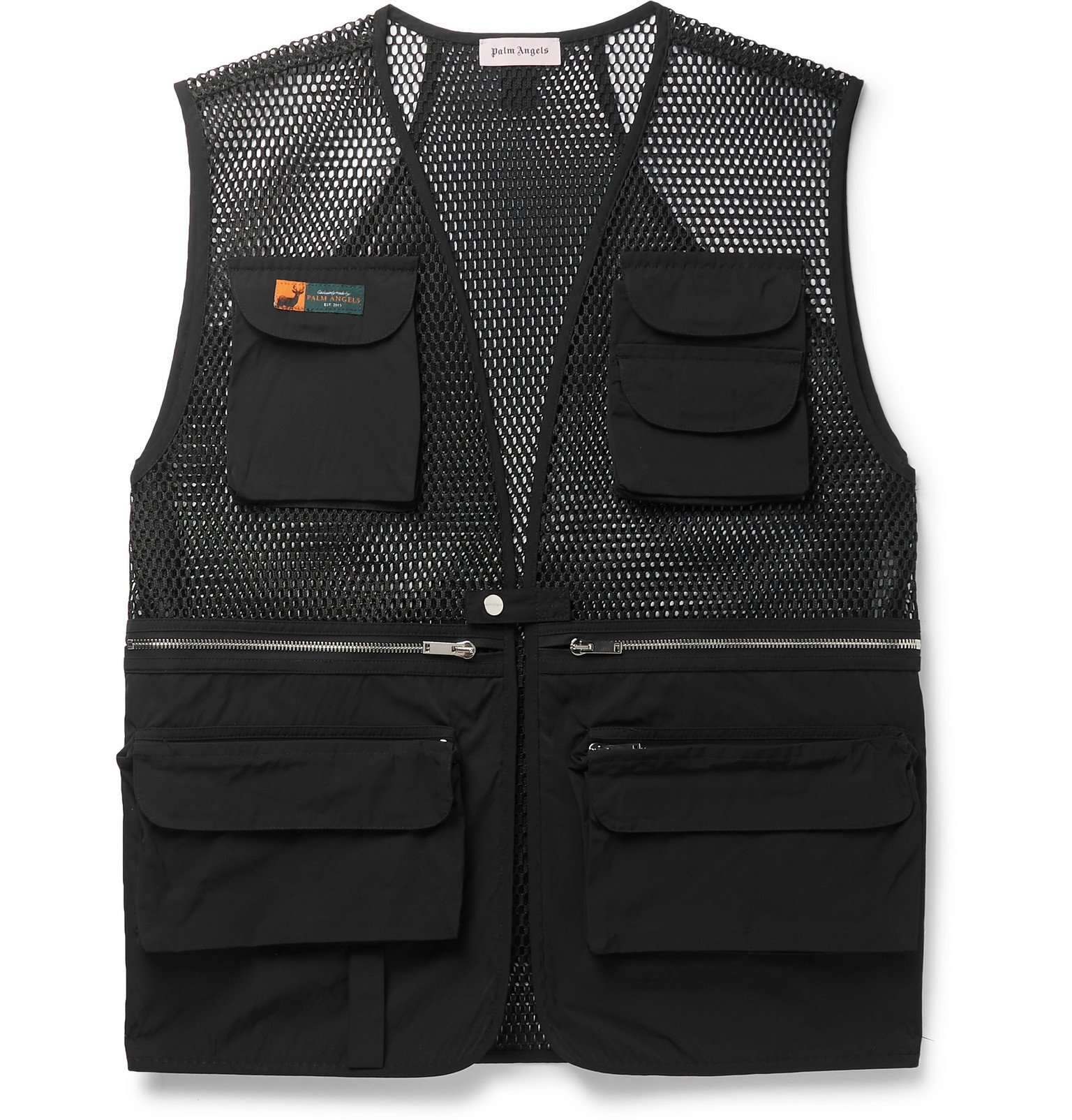 Photo: Palm Angels - Shell and Mesh Gilet - Black