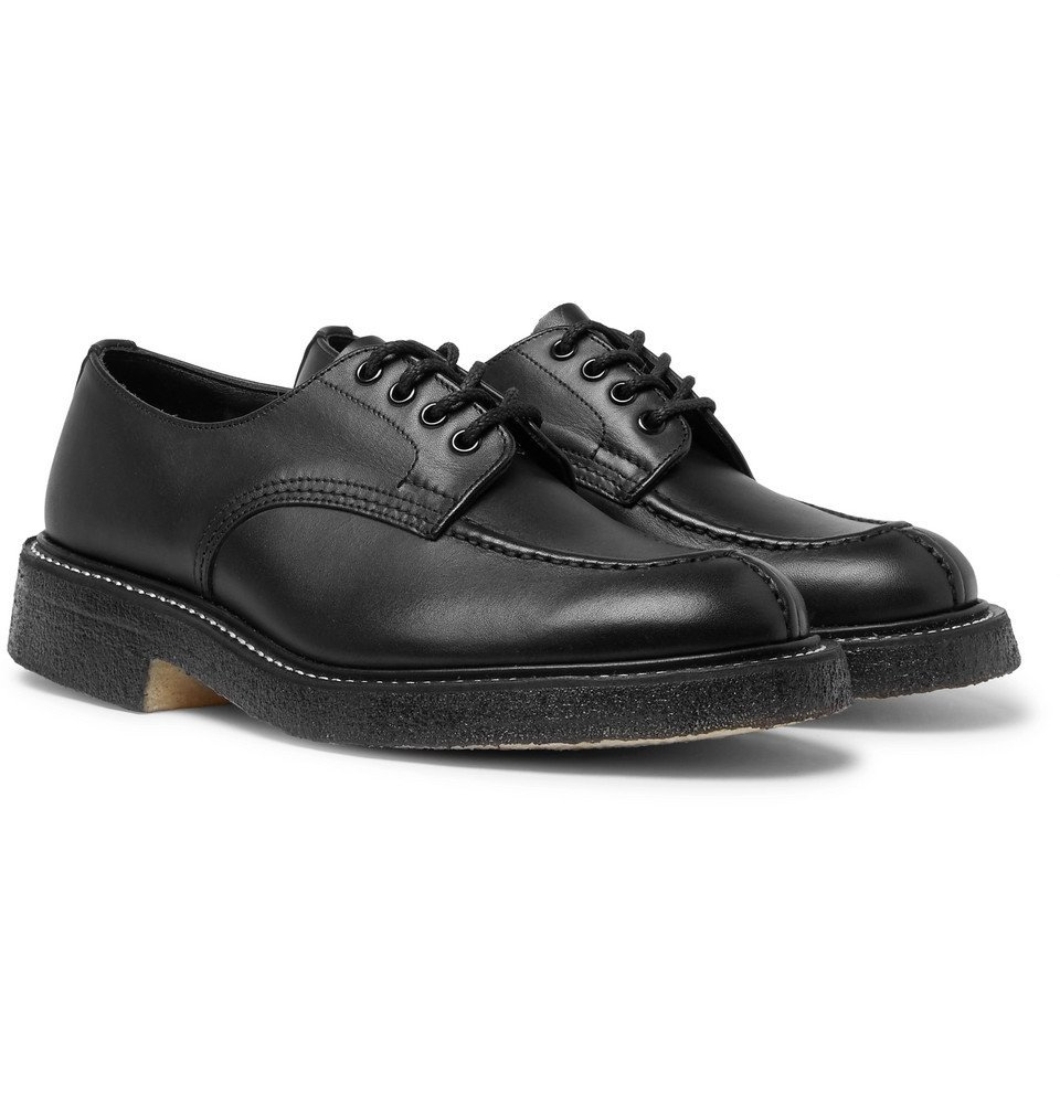 Photo: Tricker's - Leather Derby Shoes - Men - Black