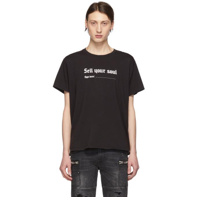 Photo: R13 Black Sell Your Soul Boy T-Shirt