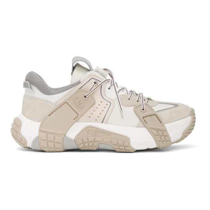 Photo: Valentino White and Off-White Valentino Garavani Wod Panelled Low-Top Sneakers
