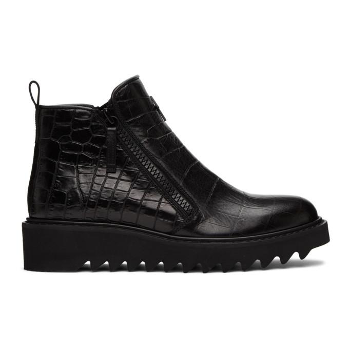 Photo: Giuseppe Zanotti Black Tegia Zip-Up Boots