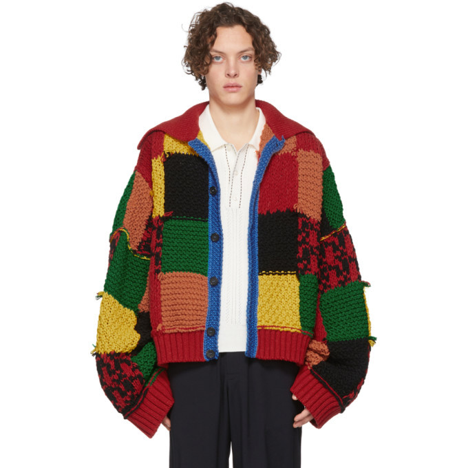 Photo: JW Anderson Multicolor Colorblock Patchwork Cardigan