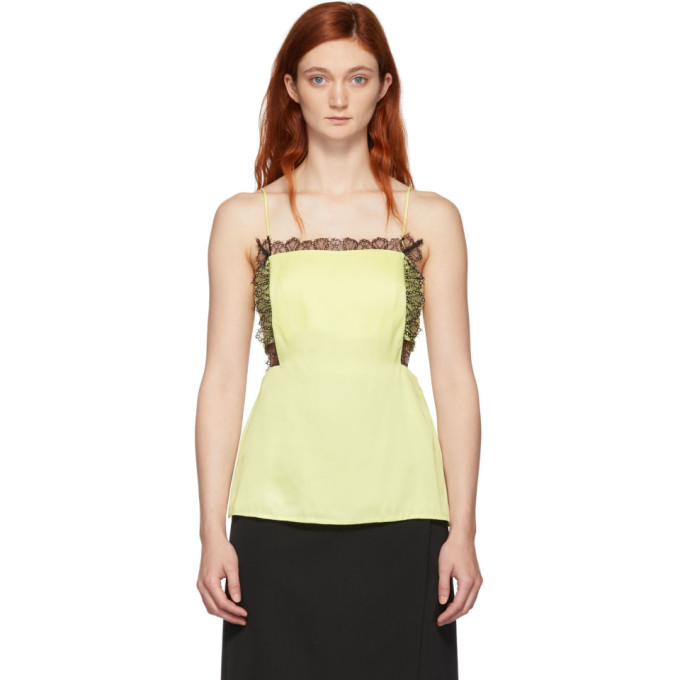 3.1 Phillip Lim Yellow Square Front Tank Top