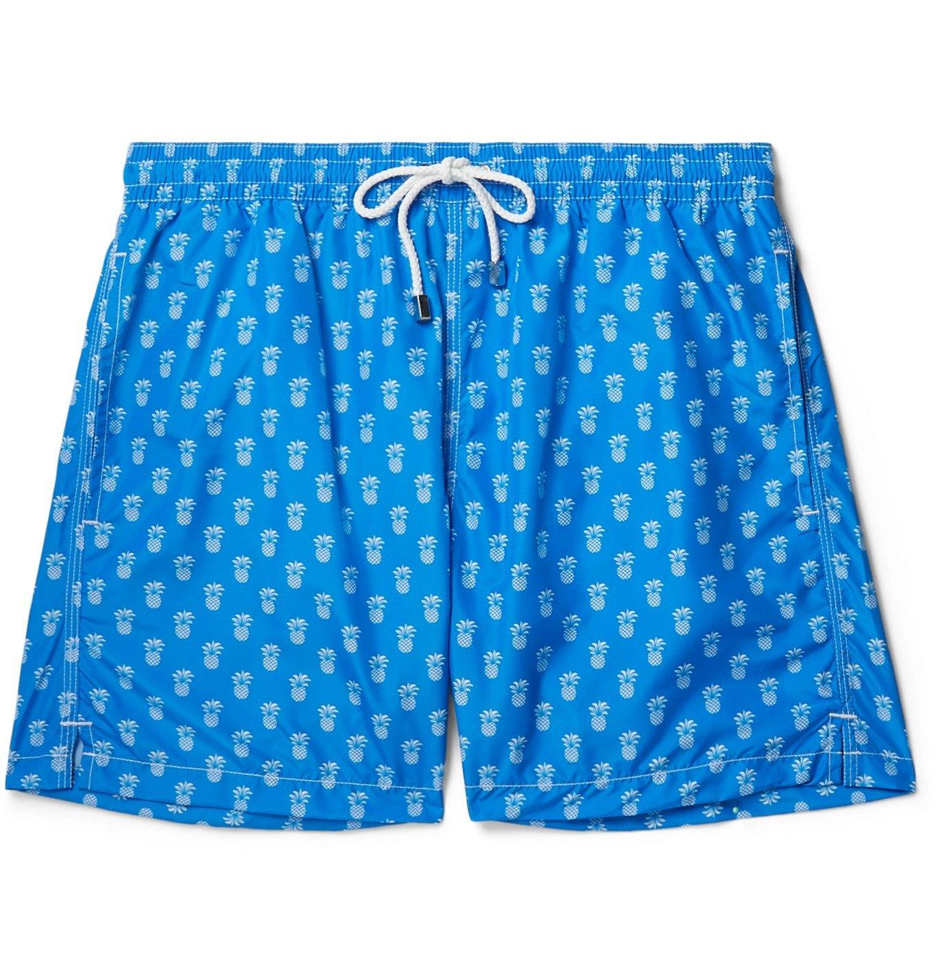Photo: Anderson & Sheppard - Printed Swim Shorts - Blue