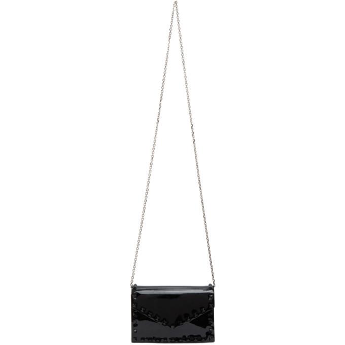 Photo: Valentino Black Valentino Garavani Patent Rockstud Envelope Wallet Bag