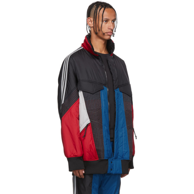 Y-3 Multicolor Colorblock Padded Track Jacket