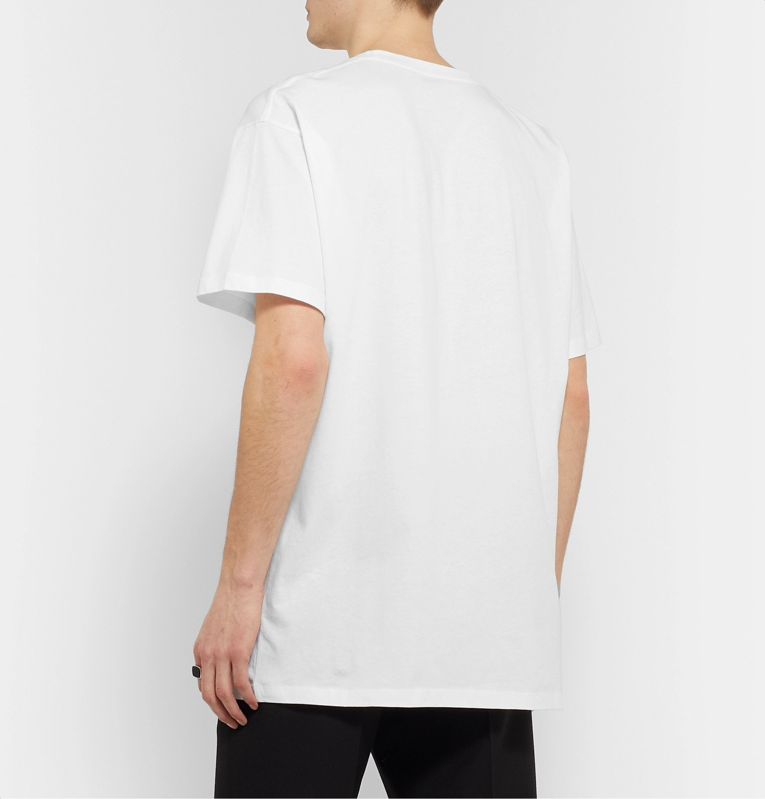 Raf Simons - Printed Cotton-Jersey T-Shirt - White