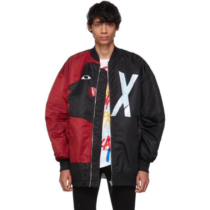 Photo: Faith Connexion Reversible Black and Red Swizz Beatz Edition RVS Bomber Jacket