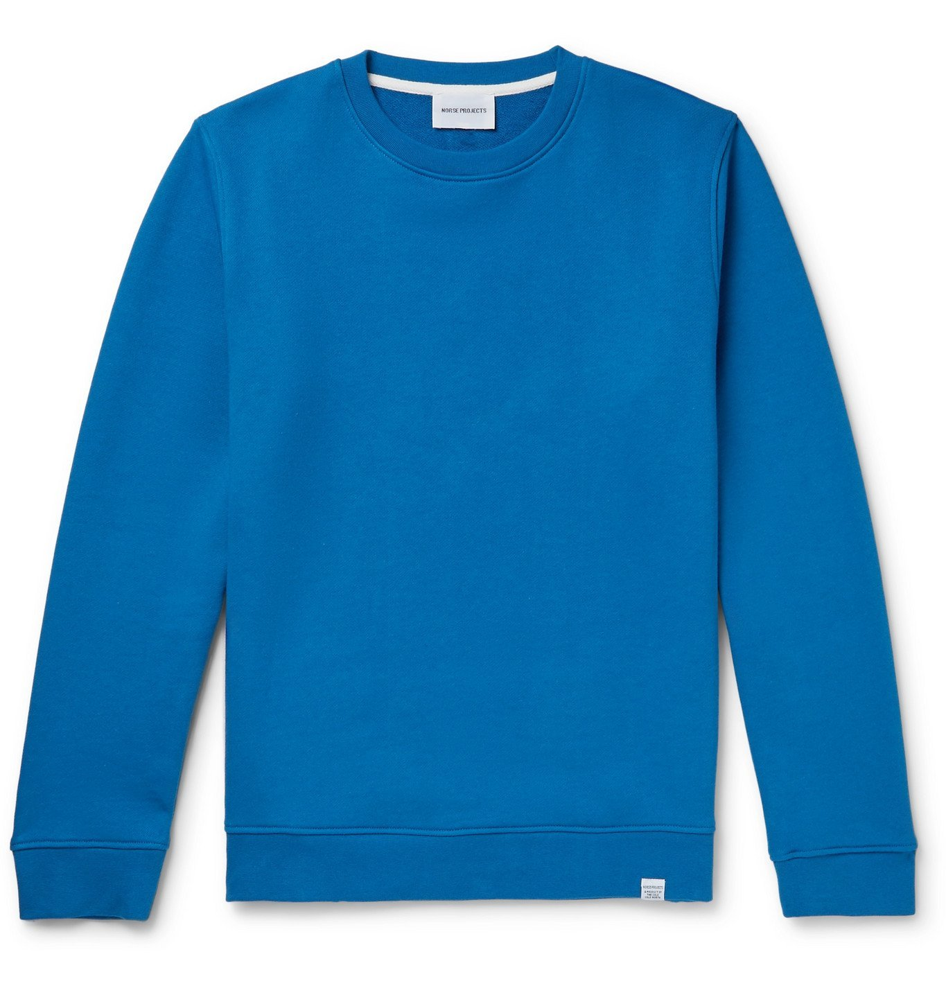Photo: Norse Projects - Vagn Fleece-Back Cotton-Jersey Sweatshirt - Blue