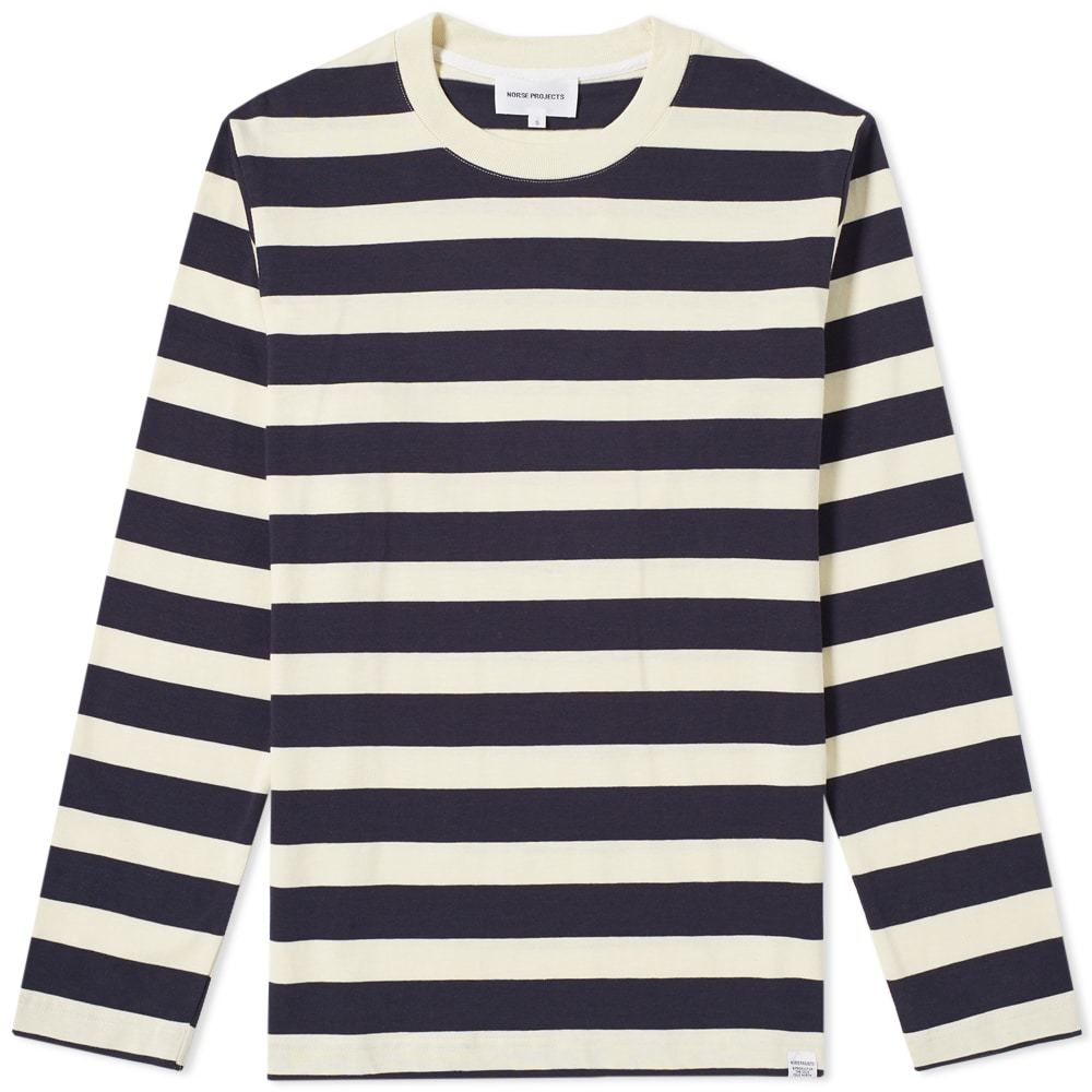 Photo: Norse Projects Long Sleeve Johannes Rugby Stripe Tee