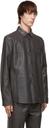 Hugo Grey Leather Lorean Shirt