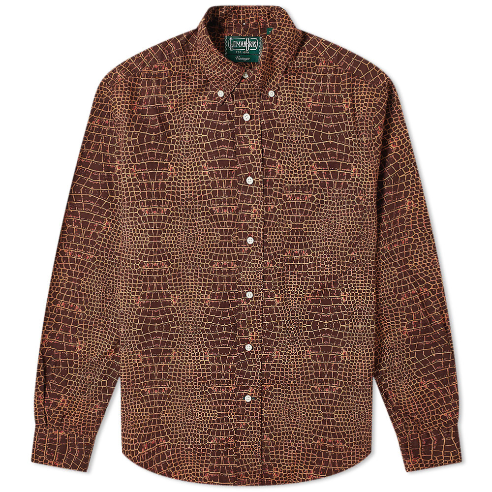 Photo: Gitman Vintage Button Down Croco Shirt