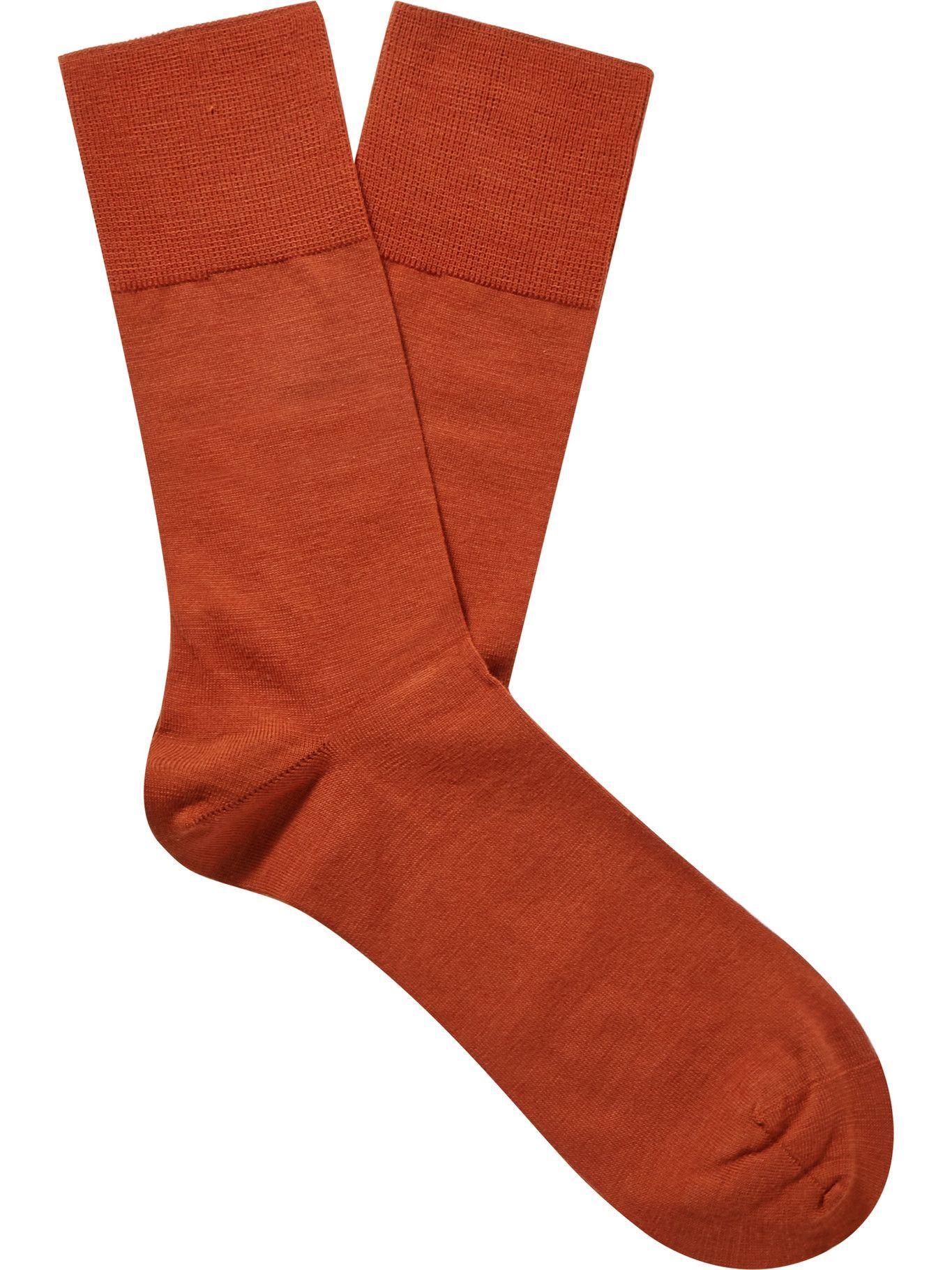 Photo: Falke - Airport Virgin Wool-Blend Socks - Orange