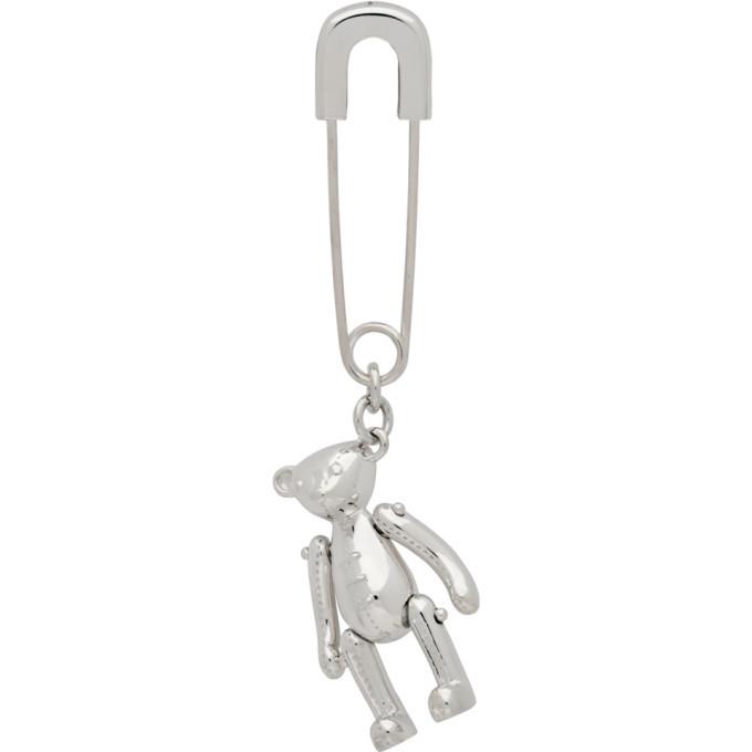 Photo: Ambush Silver Teddy Bear Charm Earring
