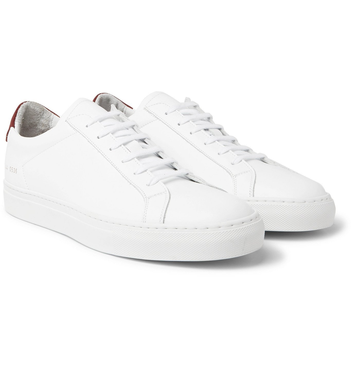 Photo: Common Projects - Retro Low Leather Sneakers - White
