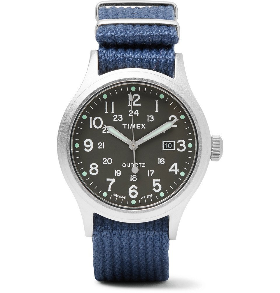 Photo: Timex - Allied Stainless Steel and Nylon-Webbing Watch - Men - Navy