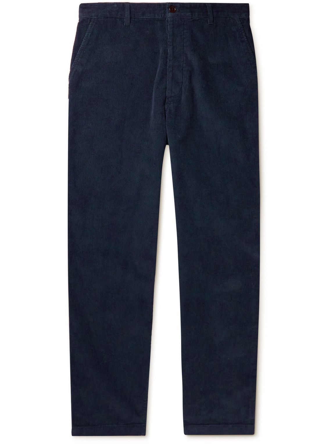 Photo: Acne Studios - Straight-Leg Cotton-Blend Corduroy Trousers - Blue